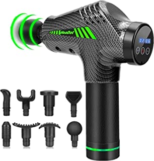 Muscle Massage Gun, Quiet Deep Tissue Percussion Back Neck Head Hammer Massager for Athletes, Pain Relief, 30 Speed Level,...