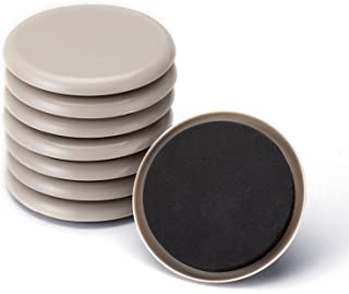 Furniture Sliders, CO-Z Reusable Round Movers for Heavy Furniture for Carpet. (8 Pack, 3.5 inch)