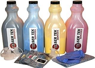 Laser Tek Services ® 4 Pack Toner Refill Kit with reset chips for the Ricoh C3500 C4500 888604 888607 888606 888605