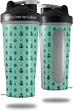 Decal Style Skin Wrap works with Blender Bottle 28oz Nautical Anchors Away 02 Seafoam Green (BOTTLE NOT INCLUDED)