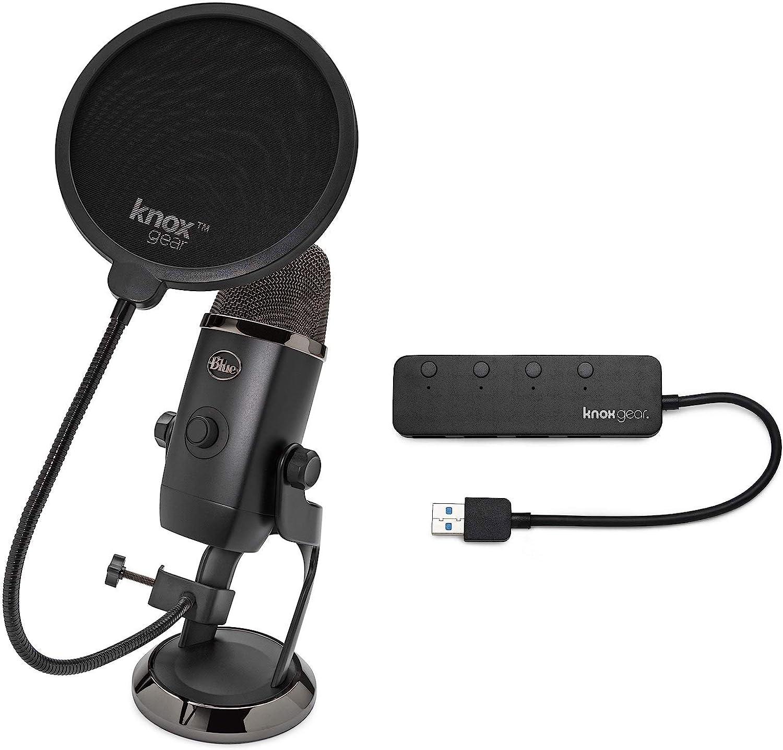 BLUE Microphones Yeti Fashion X USB Microphone Pop Knox Gear with Ranking TOP13 Bundle
