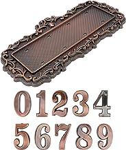 Angoily 3D Huis Adres Plaques Met Aantallen Metalen Adres Nummer Voor Deur Huis Nummer 0-9 Zelfklevende Adres Nummer Voor ...