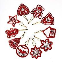 NewIncorrupt 10 stks diy diamant schilderen kerstboom hanger label kaart kerst hanger kruissteek kerst ornamenten