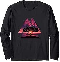 Japanese Maple Tree Silhouette, Sunset over the Ocean Long Sleeve T-Shirt
