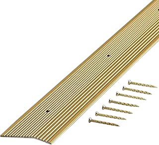 M-D Building Products 79251 Extra Wide Fluted 2-Inch by 72-Inch Carpet Trim, Satin Brass