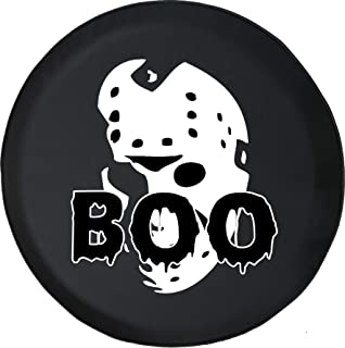 556 Gear Boo Jason Scary Mask Halloween Spooky Haunted Horror Afraid Holiday Spare Tire Cover fits SUV Camper RV Accessori...