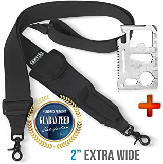 Team's 2 Point Rifle Sling- for US 2nd Amendment Supporters- 2 Point Rifle Strap with Swivels.Traditional Hunting Gan Strap- Width 2''| Adjustable Length 40''-59''| Fits Any Gun | Free Bonus