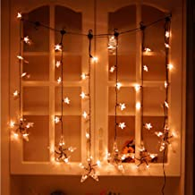 GXOK 1 Meter 60 Lights Romantic Led Light Warm White LED Curtain Star Christmas String Star Lights String Light [Ship from USA Directly]