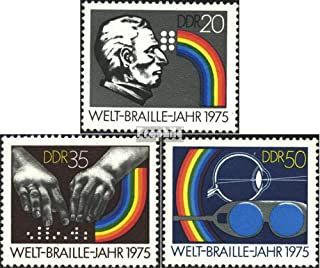 DDR 2090-2092 (Complete.Issue.) 1975 World-Braille-Year,150 Yeare Braille (Stamps for Collectors)