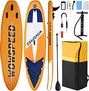 """Houssem Stand Up Paddle Board 10.5'×33""""×6"""", Inflatable Paddleboard with SUP Accessories, Backpack, Adjustable Paddle, Hand..."""