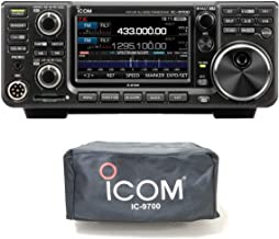 Icom IC-9700 VHF/UHF/1.2GHz All Mode D-Star Transceiver with Custom Fit GigaParts/Icom IC-9700 Dust Cover