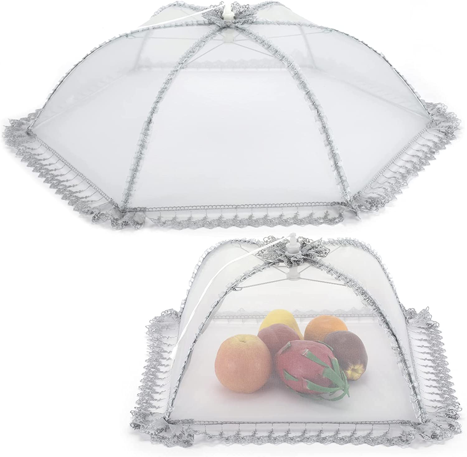 Food covers for Outdoor Large Mesh Screen,Food Tents for Camping and Picnic,Pop Up Mesh Cover Net for Protecting Food Cover Net
