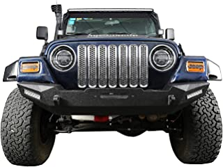 Hooke Road Silver Chrome Front Grille Mesh Inserts for 1997-2006 Jeep Wrangler TJ & Unlimited (Pack of 7)