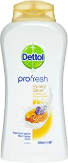 Dettol Profresh Shower Gel Cream Honey Glow Body Wash, 500ml