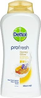 Dettol Profresh Shower Gel Cream Honey Glow Body Wash, 500ml