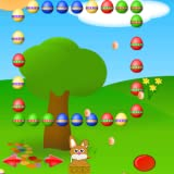 Invaders Galaxian style game simple coloutful graphics Collect as many Easter eggs as possible