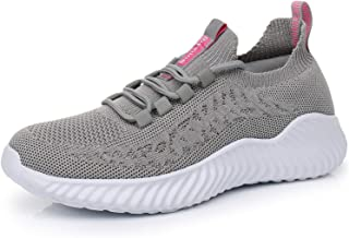Women's Athletic Walking Running Shoes Slip on Lightweight Mesh Breathable Comfortable Casual Work Sock Sneakers Non Slip