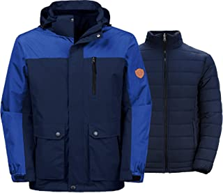Wantdo Men's Winter Ski Jacket Water Resistant 3-in-1 Jacket Puff Liner
