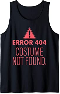 Error 404 Costume Not Found - DIY Halloween Costume Tank Top