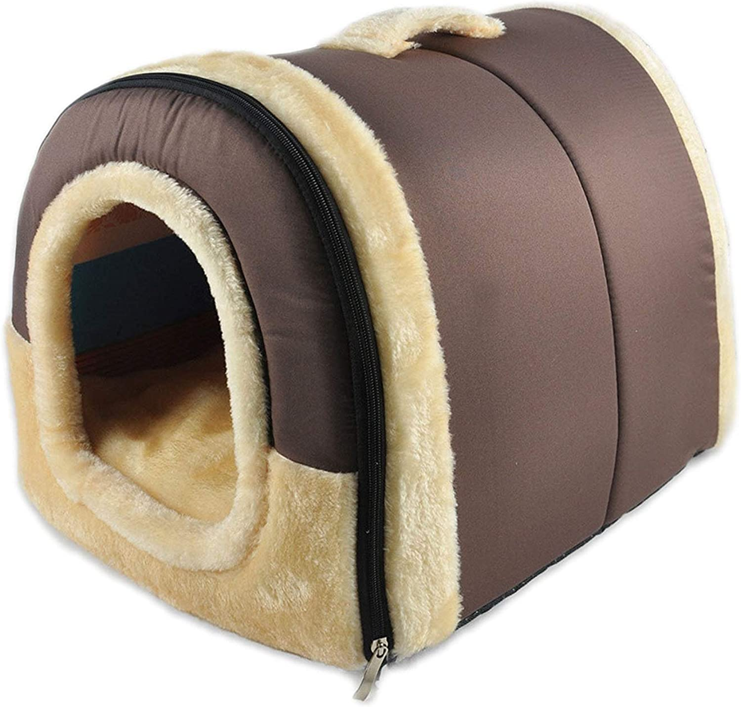 LIAN Store 2 In 1 Home and Sofa Dog Bed Cat Puppy Rabbit Pet Soft Pet Kennel Sleeping Bag House Puppy Cave Bed,60cm X 45cm X 45cm