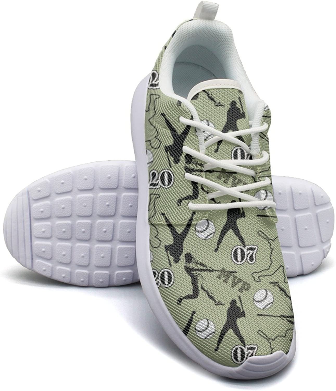 Baseball Players Vector Image Women's Fashion Running shoes Popular Mesh Lightweight Sneakers