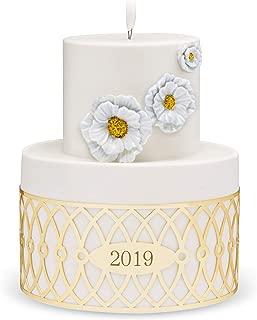 Hallmark Keepsake Christmas Ornament 2019 Year Dated Wedding Cake I Do, Porcelain and Metal