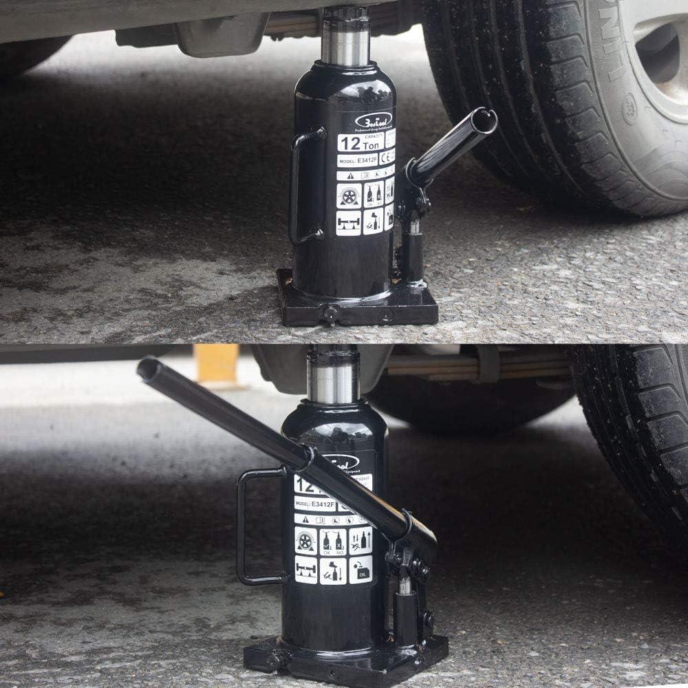 4,000 lb Hydraulic Welded Bottle Jack,Anti-Leakage Design Structure,Black BESTOOL 2 Ton