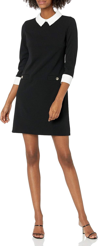 Tommy Hilfiger Women's Neck Tie A-line Dress
