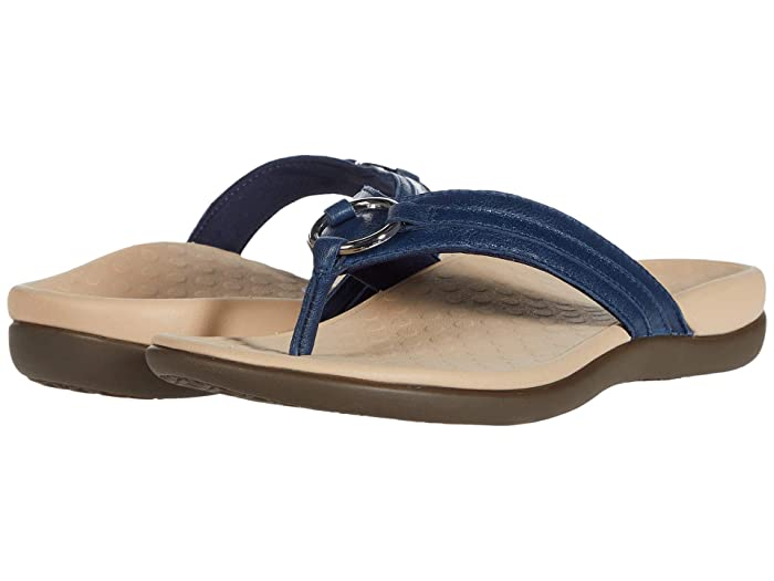 VIONIC  Aloe Leather (Navy) Womens Shoes
