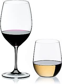 Riedel 4 Piece Vinum XL Cabernet and O Viognier Wine Glass Set, Buy 2 Get 4