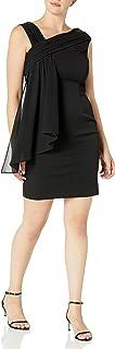 فستان حريمي ضيق بياقة مكشكشة غير متماثلة من Jessica Howard مع غطاء منسدل