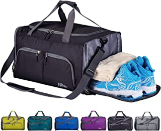 FANCYOUT Sports Gym Bag with Shoes Compartment & Wet Pocket, Travel Duffel Bag for Men and Women