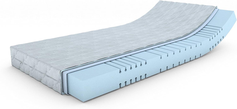MSS Mellow-Foam-7-Zonen Kaltschaummatratze H4   160 cm x 200 cm   H4 ab 100 kg = hart