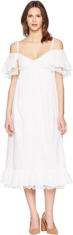 McQ Pleat Off Shoulder Dress
