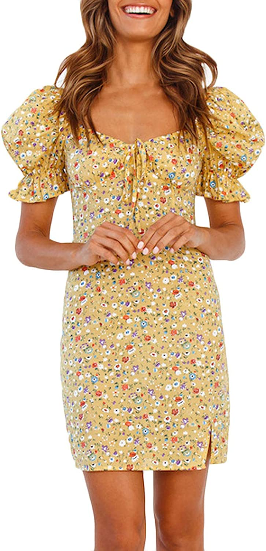 Ranking TOP3 CCHENN Women Short Sleeve Dresses Max 62% OFF Casual Summer Fl O Boho V-Neck
