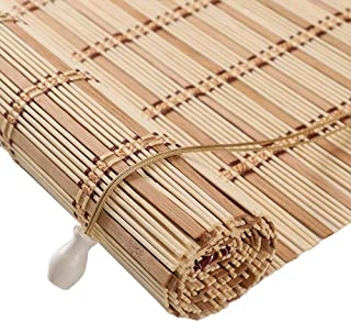 Jcnfa-Roller Shades Natural Bamboo Roll Up Blinds, Venetian Blinds, Smooth No Burrs Wood Window Shades, Light Filtering Curtains with Side Pull & Fittings, Customizable,3 Colors