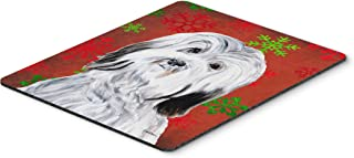 Caroline's Treasures SC9761MP Havanese Red Snowflakes Holiday Mouse Pad, Hot Pad or Trivet, Large, Multicolor
