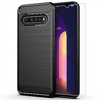 LG V60 ThinQ case,with HD Screen Protector,LG V60 case,MAIKEZI Soft TPU Slim Fashion Non-Slip Protective Phone Case Cover ...