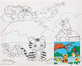 Keep Smiling Large Canvas Painting Set For Kids