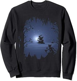 Disney Peter Pan Moonlit Pirate Ship Silhouette Sweatshirt