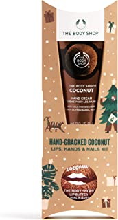 The Body Shop Nourishing Coconut Lip and Handcare Kit, Includes Nutty Treats For Lips, Hands, And Nails