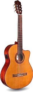 Cordoba C5-CE CD Classical Cutaway Acoustic-Electric Nylon String Guitar, Iberia Series