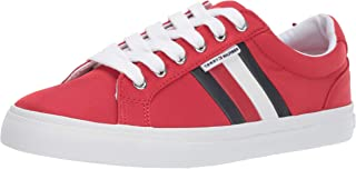 Tommy Hilfiger Women's Lightz Sneaker, Red, 8 M US