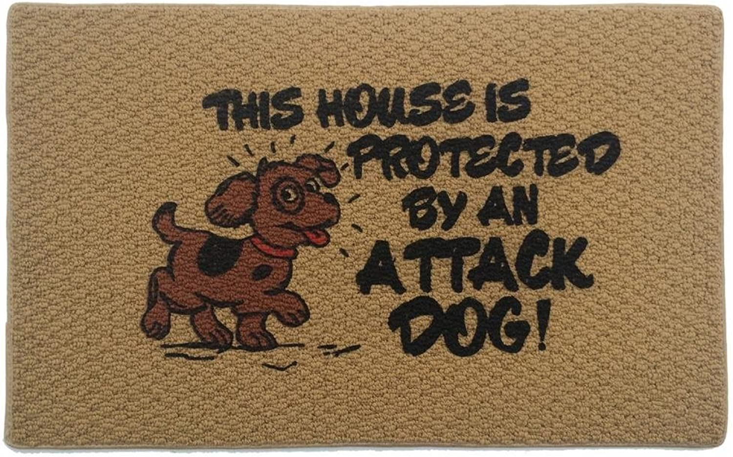 Home & More 151411827 Attack Dog Indoor Mat, 18  x 27 , Multicolor