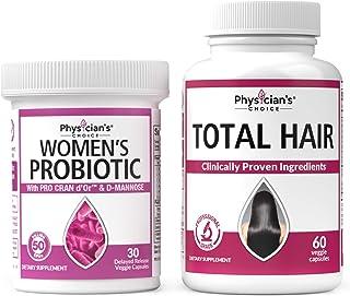 Prebiotics & Probiotics for Women + Hair Growth Vitamins (Clinically Proven Ingredients)
