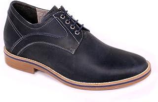 Max Denegri Zapato Casual Oxford Negro 7cms De Altura