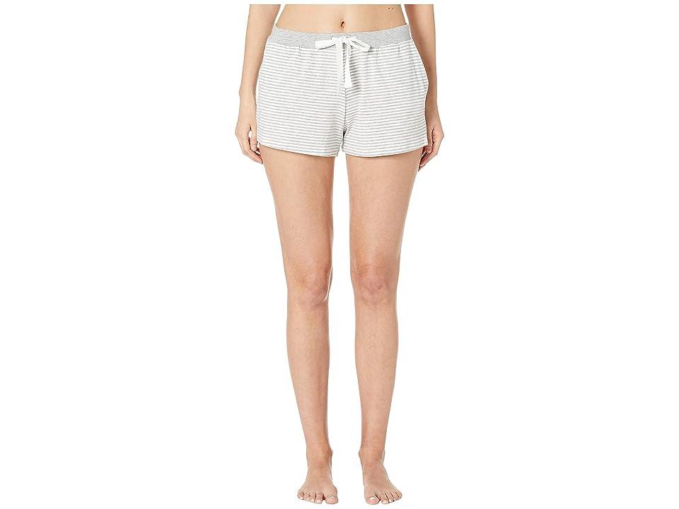 Skin Marin Shorts (White/Heather Grey Stripe) Women