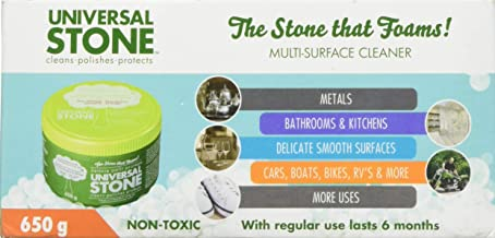 Universal Stone - The All-Purpose Stone That Foams, Cleans, Polishes And Protects. Sponge Included. Eco Friendly and Biodegradable (650g)