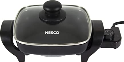 Nesco ES-08, Electric Skillet, Black, 8 inch, 800 watts