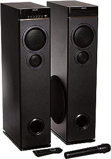 Philips SPA9080B Bluetooth Multimedia Tower Speakers with Mic for Karaoke(Black)